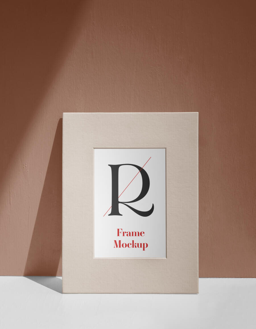 Free Paper Photo Frame Mockup