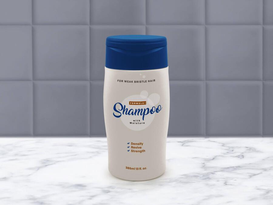 Free Plastic Shampoo Bottle Mockup