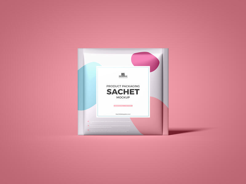 Free Product Packaging Sachet Mockup