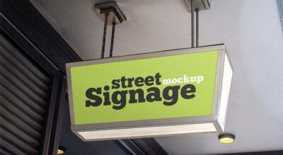 Free Street Signage Mockup (PSD)