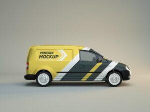 Minivan Side View Free Mockup (PSD)