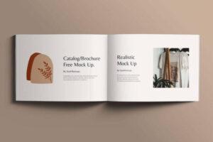 Open Square Catalog Free Mockup (PSD)