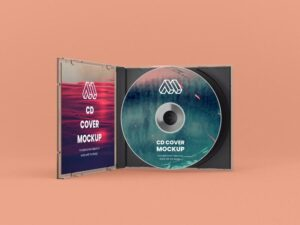 Opened CD Case Free Mockup