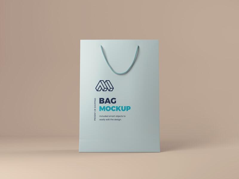 Paper Shopping Bag Free Mockup