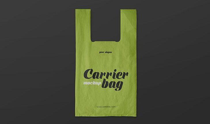 Plastic Carrier Bag Free Mockup