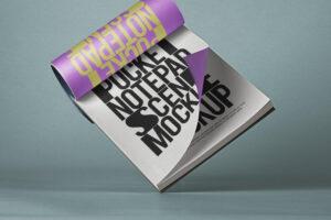 Pocket Notepad Free Mockup Scene