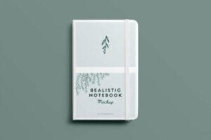 Realistic Notebook Free Mockup