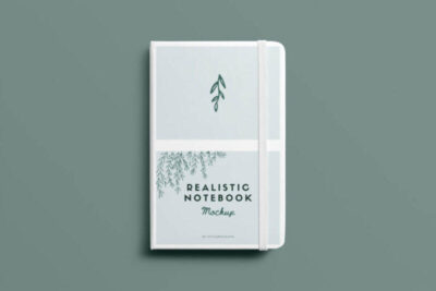 Realistic Notebook Free Mockup