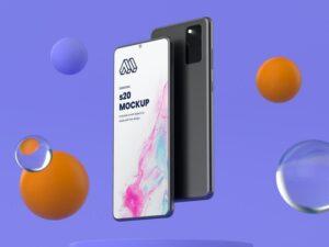 Samsung S20 Free Mockup (PSD)