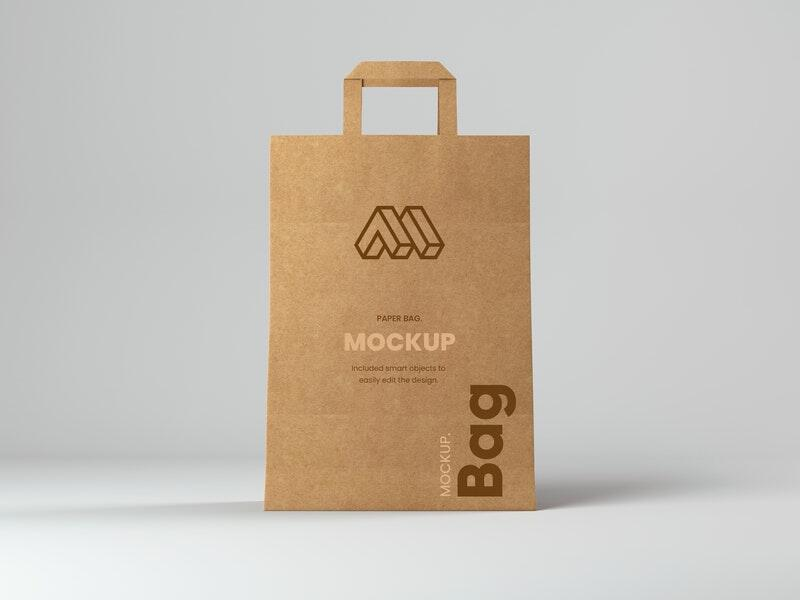 Shopping Paper Bag Free Mockup
