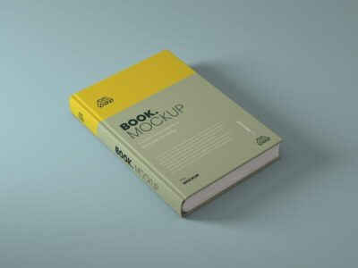 Side View Book Free Mockup (PSD)