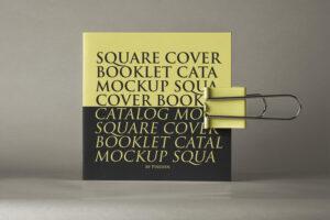 Square Brochure Free Mockup (PSD)