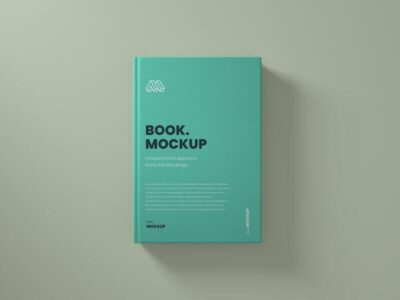 Top View Book Free Mockup (PSD)