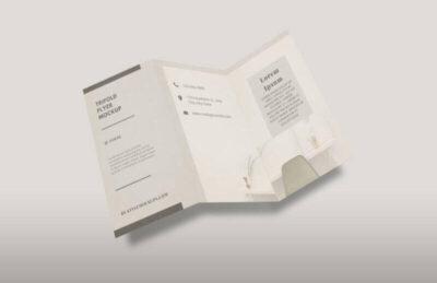Tri-fold DL Flyer Free Mockup