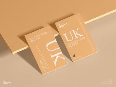 UK 85×55 mm Size Business Card Free Mockup