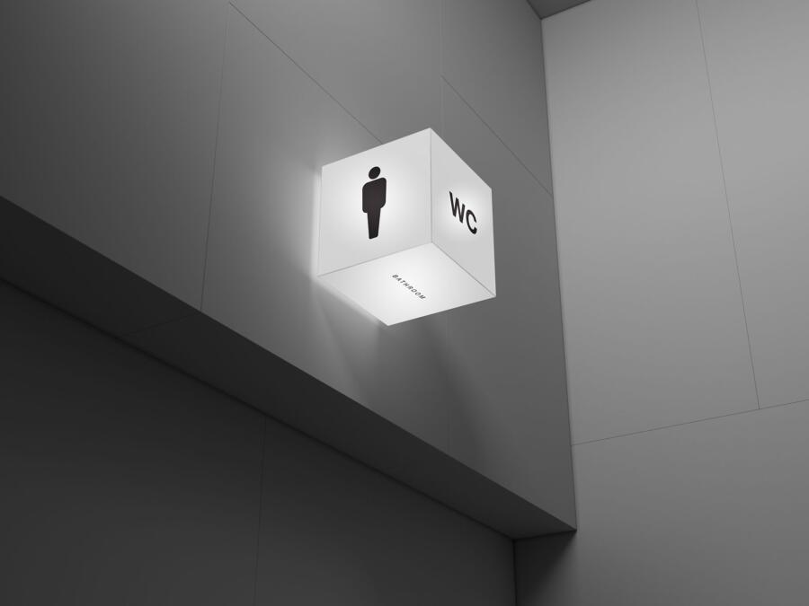 Acrylic Cube Lightbox Free Mockup