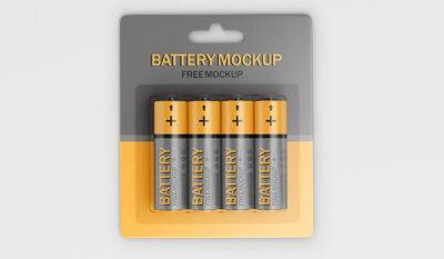 Battery Package Free Mockup Set