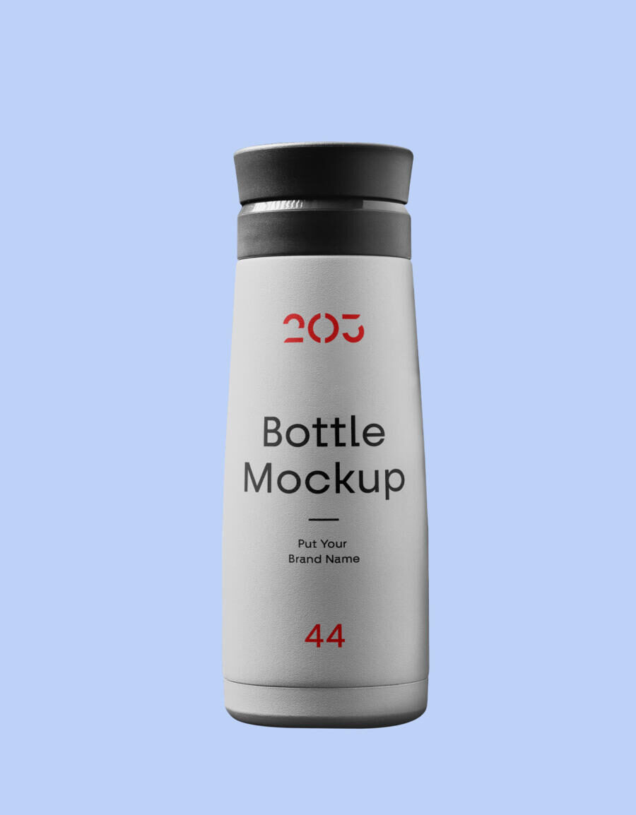 Bottle of Plastic Free Mockup (PSD)