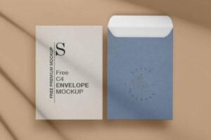 C4 Envelope Free Mockup (PSD)