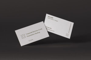 Corporate Business Card Free Mockup (PSD)