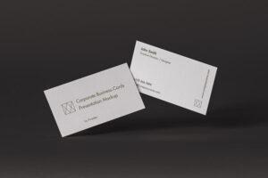 Corporate Business Card Free Mockup (PSD)