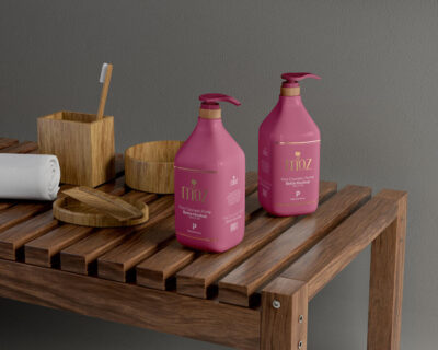 Cosmetic Pump Bottle Free Mockup (PSD)