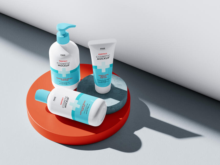 Cosmetics Packaging Free Mockup Set