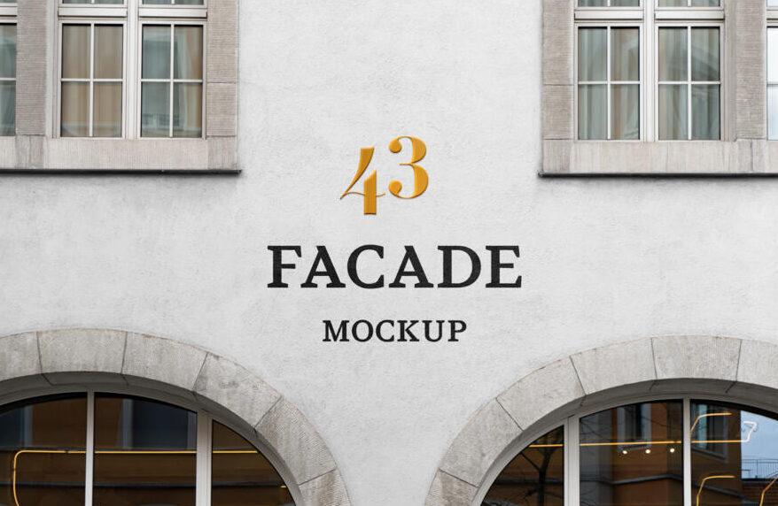 Facade Sign Free Mockup