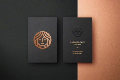 Foil Embrossing Business Card Free Mockup