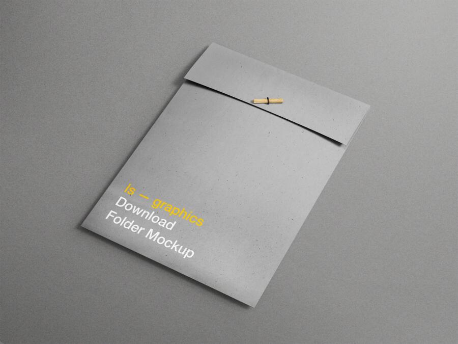 Free A4 Folder Mockup (PSD)