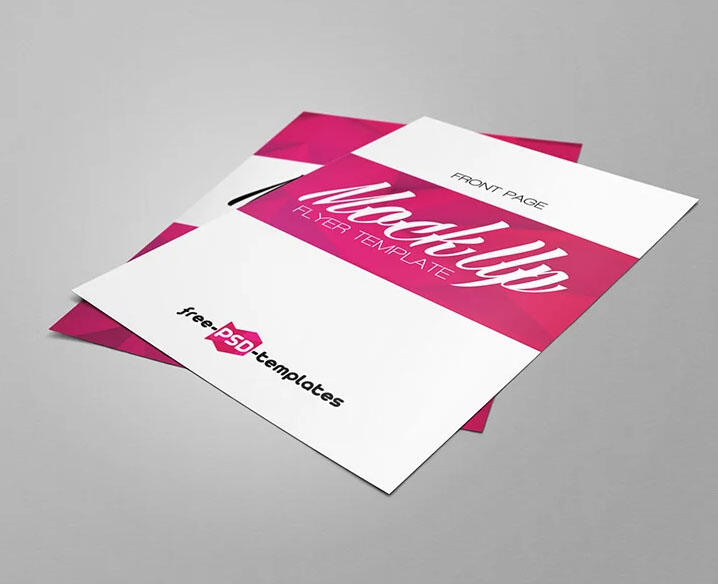 Free Branding Flyer Mockup (PSD)