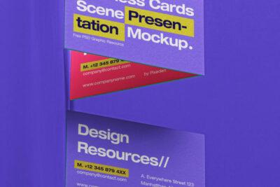 Free Business Card Mockup Set