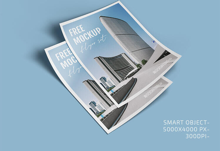 Free Cool Flyer Mockup Set (PSD)