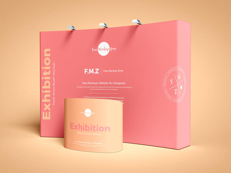 Free Exhibition Trade Show Booth Mockup