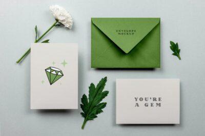 Free Greeting Card & Envelope Mockup (PSD)