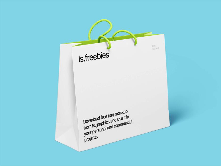 Free High Resolution Bag Mockup (PSD)