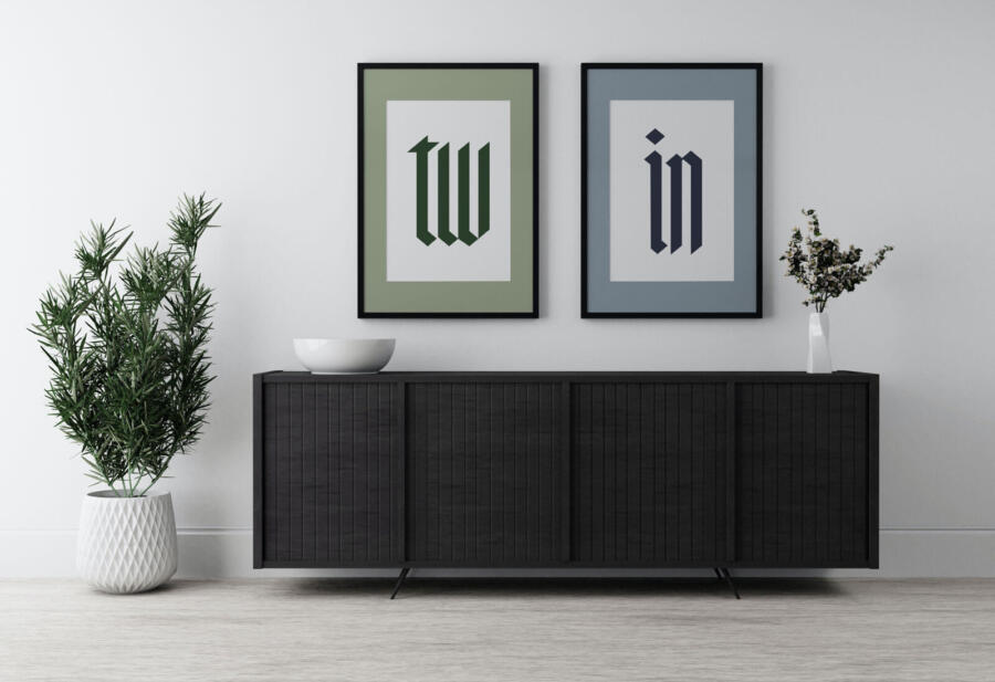 Free Two Frame Poster Mockup