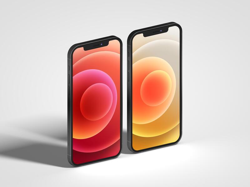 Free UI Branding iPhone 12 Mockup