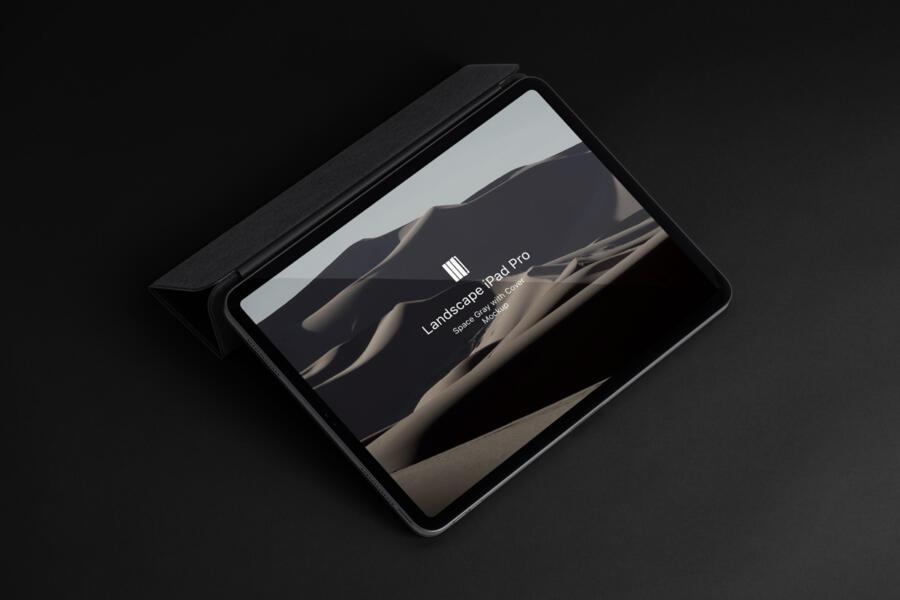 Landscape Cover iPad Pro Mockup