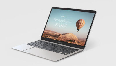 MacBook Pro Laptop Free Mockup (PSD)