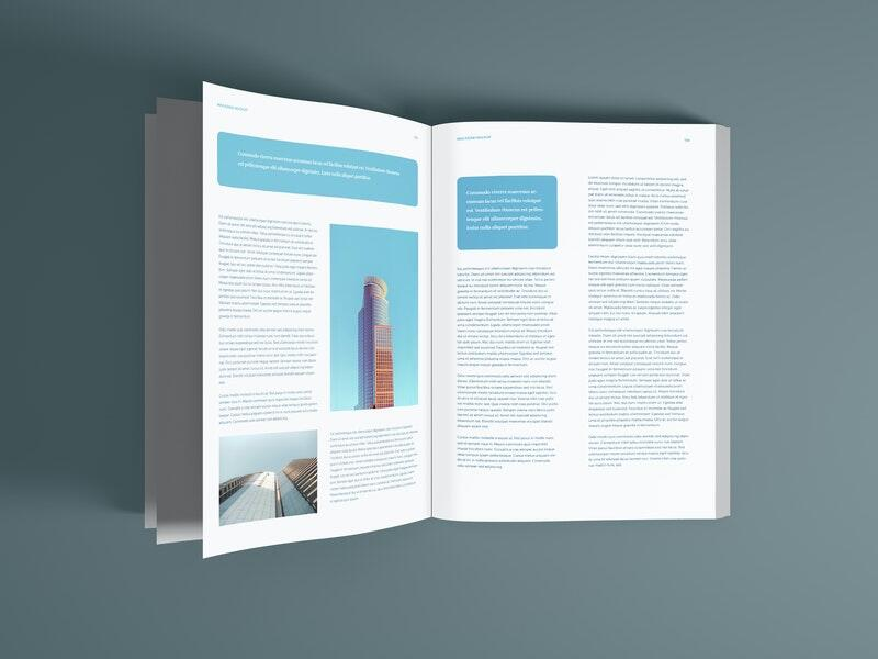 Magazine Pages Free Mockup (PSD)