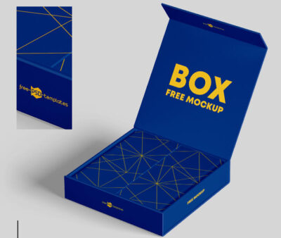 Packaging Boxes Free Mockup (PSD)