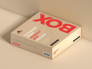 Packaging Craft Product Box Free Mockup