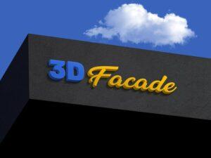 Shop Facade 3D Logo Free Mockup (PSD)