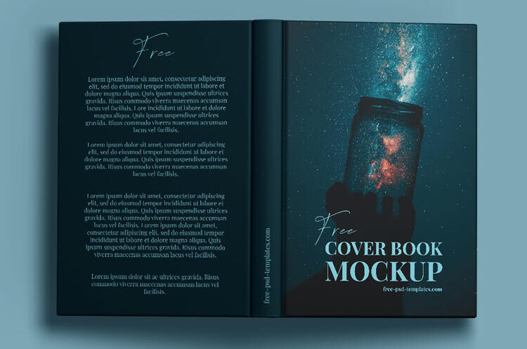 Standing Hardcover Book Free Mockup Set