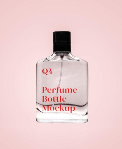 Transparent Perfume Free Mockup (PSD)