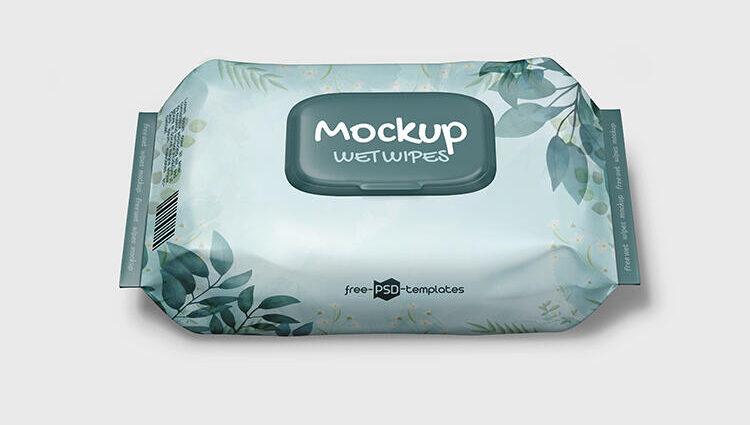 Wet Wipes Free Mockup (PSD)