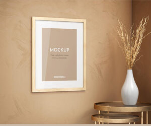 Wooden Photo Frame Free Mockup