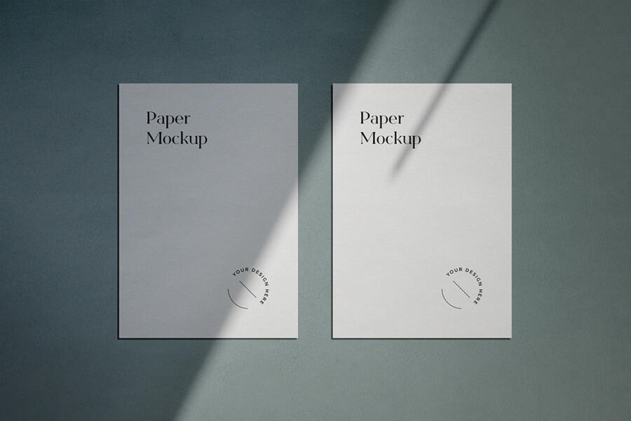 A4 Paper With Shadow Overlay Free Mockup