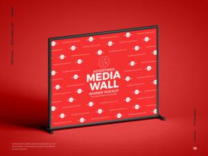 Advertising Media Wall Banner Free Mockup